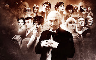 The First Doctor and his companions - photo from The Cinematic Packrat