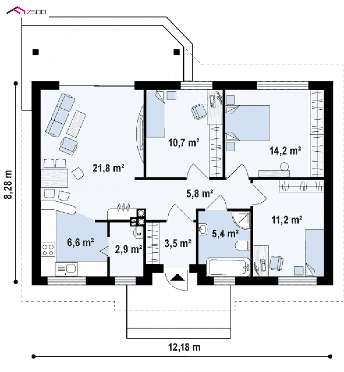 Small but beautiful house inspirations under 100 square meters for 100 sq meters house floor plan