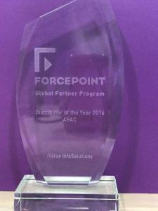 "iValue Receives ""Best Value Added Distributor for APAC"" Award from Forcepoint"