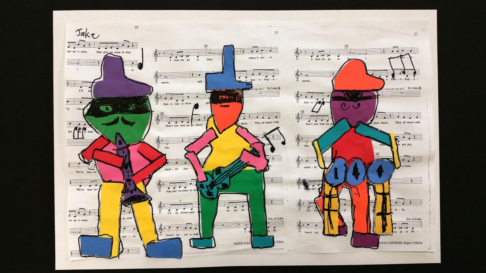 Paintbrush Rocket 2nd Grade Picasso S Three Musicians