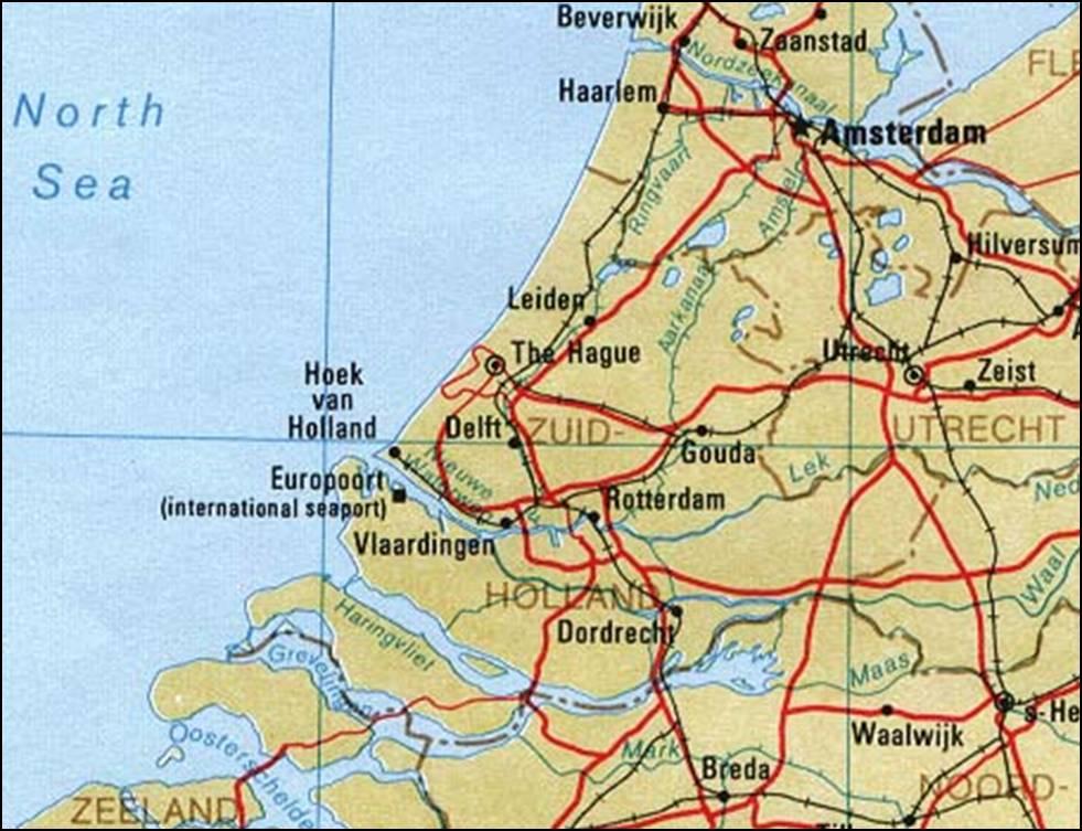 Kaart Zuid Holland Vakantie Kaart Zuid Holland Vakantie Nederland