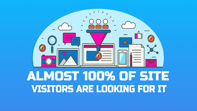 Almost 100% of site visitors are looking for it