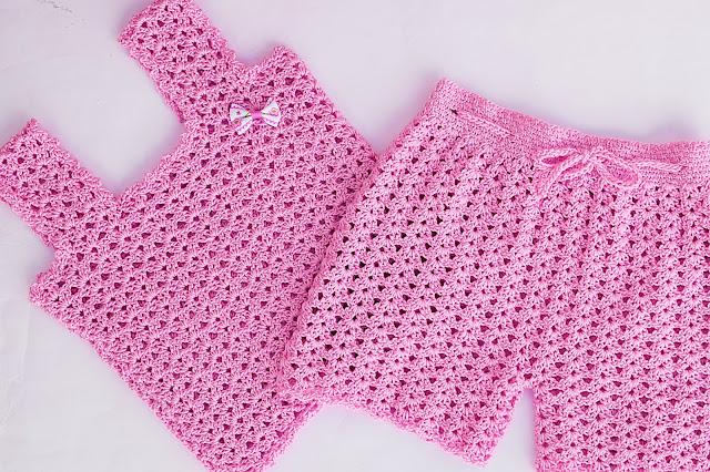 4 - Crochet Imagen Pantalón o short a crochet y ganchillo por Majovel Crochet