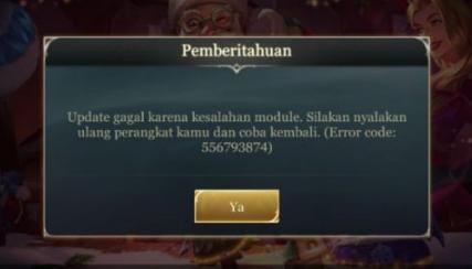 AOV Error Code 556793874