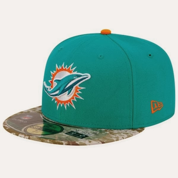 ca870120a New Era Miami Dolphins NFL Salute To Service On-Field 59FIFTY Fitted  Performance Hat