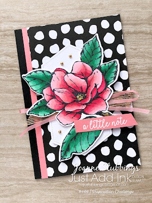 Jo's Stamping Spot - Just Add Ink Challenge #466 using Magnolia Lane bundle and Butterfly Gala stamp set by Stampin' Up!