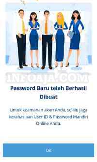 Password baru mandiri online