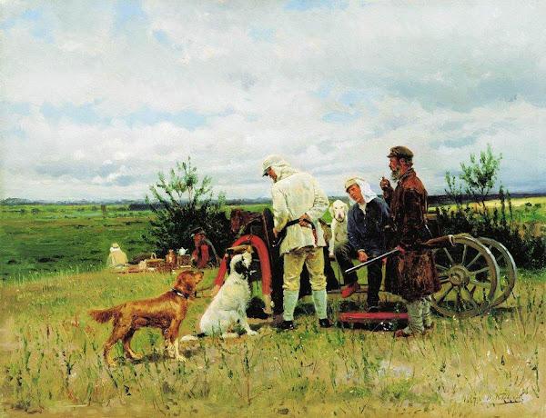 Маковский Владимир Егорович - Охотники на привале. 1887