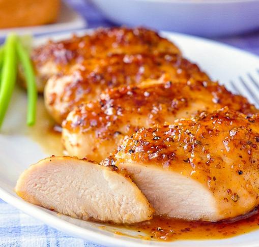 HONEY DIJON GARLIC CHICKEN BREASTS #dinner #healthydinner