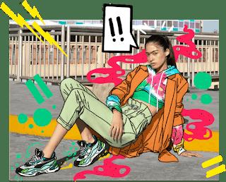 """Fotografía de una mujer que posa con Sneakers, que promociona el concurso """"TAF 20° Aniversario: Life is Better On Sneakers"""""""