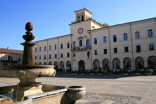 The Municipio - local authority building - in Cervia, the town on the Adriatic coast where Graziani coached