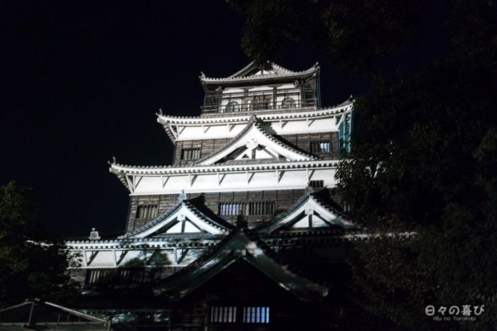 Mise en lumière du château d'Hiroshima, Hiroshima-shi