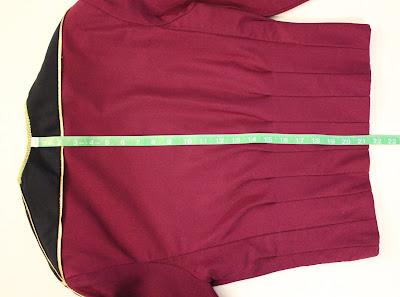 TNG season 1 admiral jacket - length