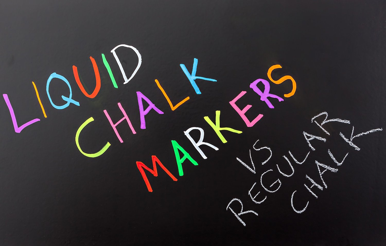 neon chalkboard chalk