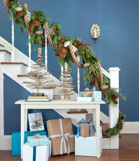Christmas Decorating with Driftwood Trees