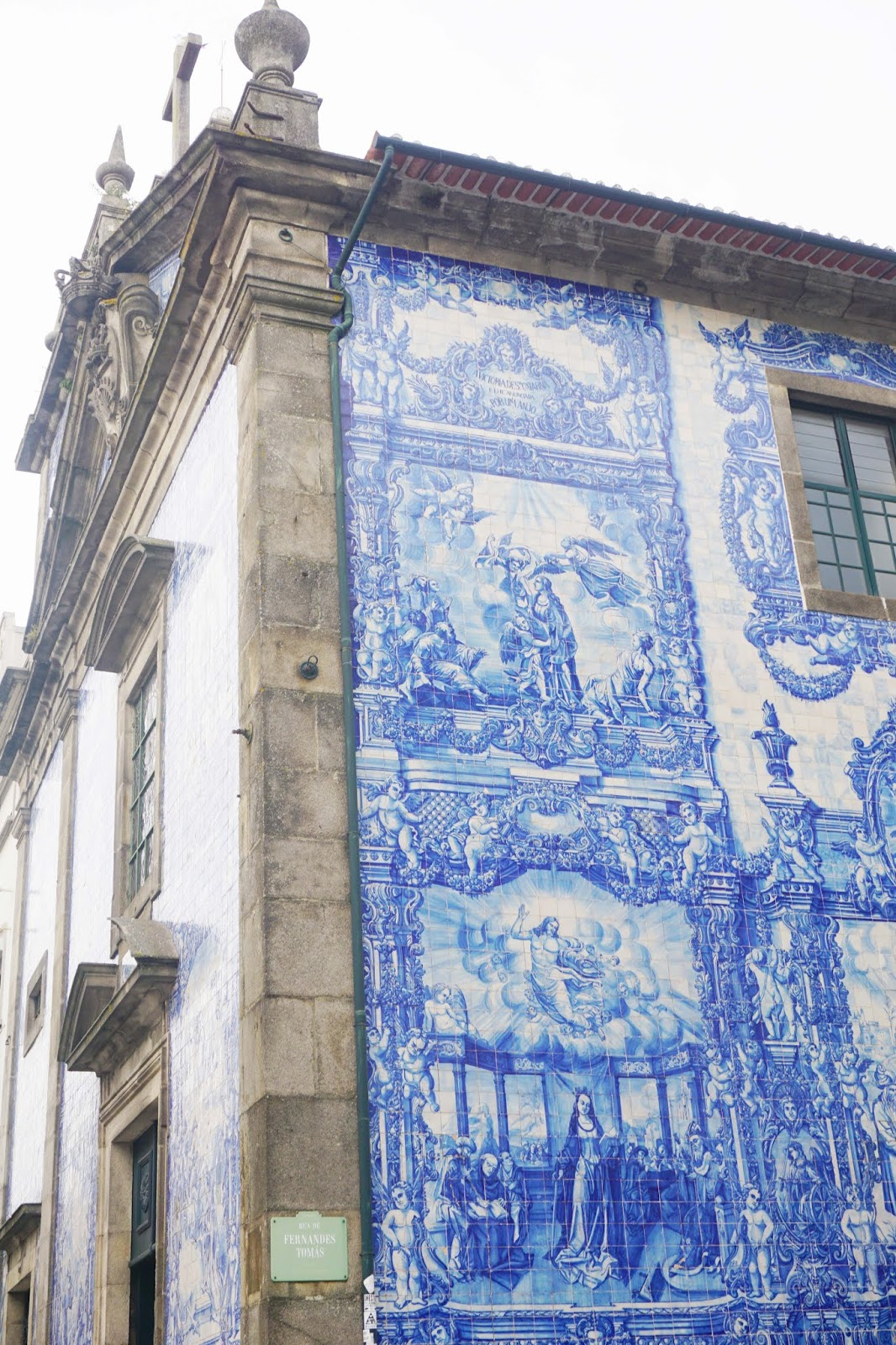 Blue and white azulejo tiles in Porto Portugal Best place to stay