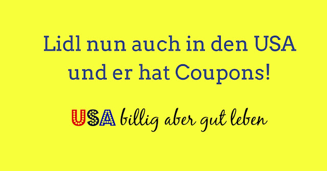 Lidl USA Couponing