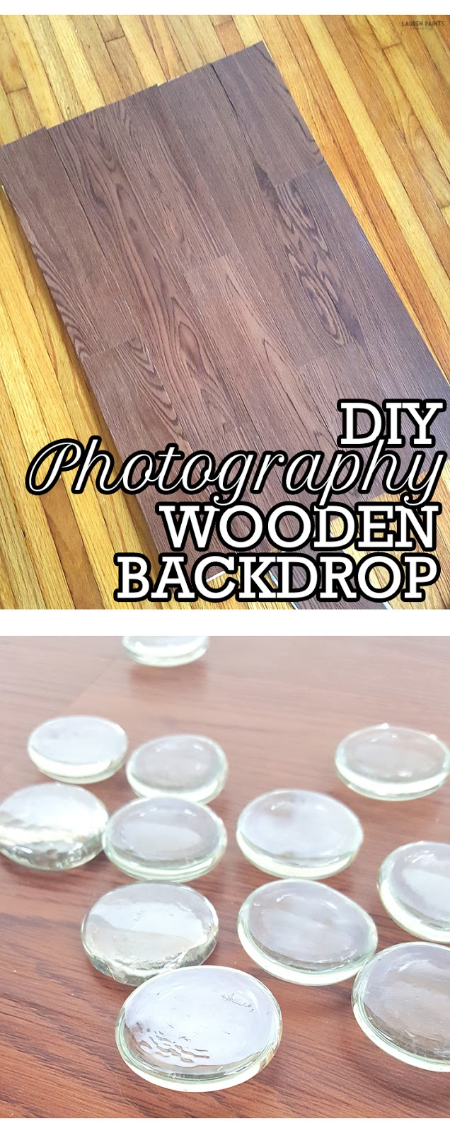 You can make this beautiful wooden back drop in minutes without breaking the bank & it's perfect for capturing a gorgeous photo of anything!