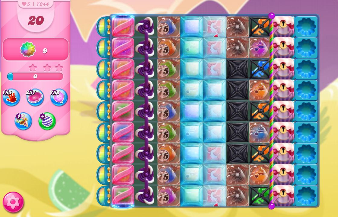 Candy Crush Saga level 7244