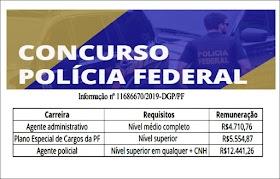 Edital de concurso da Polícia Federal com 1,5 mil vagas deve ser divulgado em janeiro