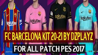PES2017 Barcelona Kits Season 2020-2021