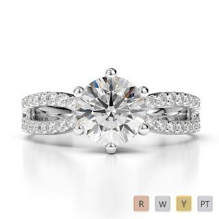 April Birthstone Rings - Diamond Engagement Rings