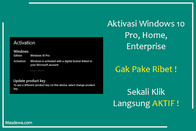 aktivasi windows 10 permanen