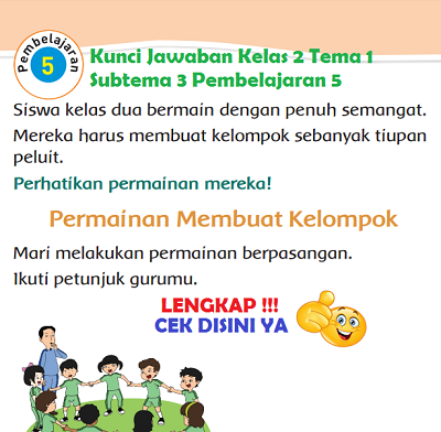 Kunci Jawaban Kelas 2 Tema 1 Subtema 3 Pembelajaran 5 www.simplenews.me