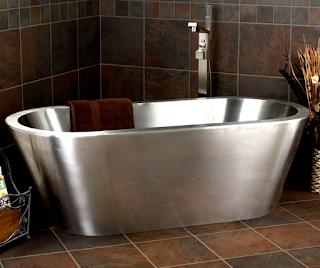 stainless steel bathtub