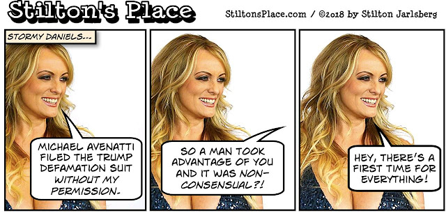 stilton's place, stilton, political, humor, conservative, cartoons, jokes, hope n' change, hockey, puck, shooter, stormy daniels, murphy brown, birthday