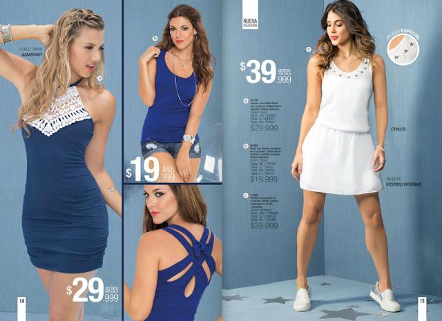 vestido azul y vestido blanco