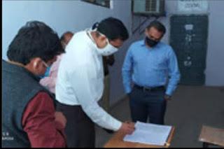 पुलिस अधीक्षक तथा जिला निर्वाचन अधिकारी द्वारा जिला वेयर हाउस का संयुक्त रूप से मासिक निरीक्षण