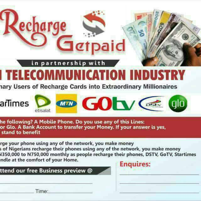 Looking  for a profitable telecom  business? Join Recharge and get paid.