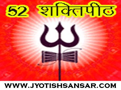 ५२ शक्ति पीठ भारत में, कहाँ मौजूद है ५२ शक्तिपीठ, कौन सी देवी की पूजा होती है ५२ शक्तिपीठो में.