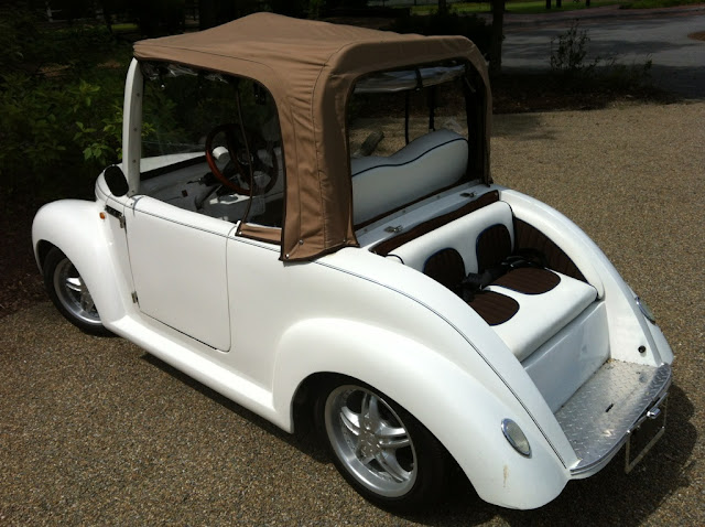 golf cart that looks like a classic car