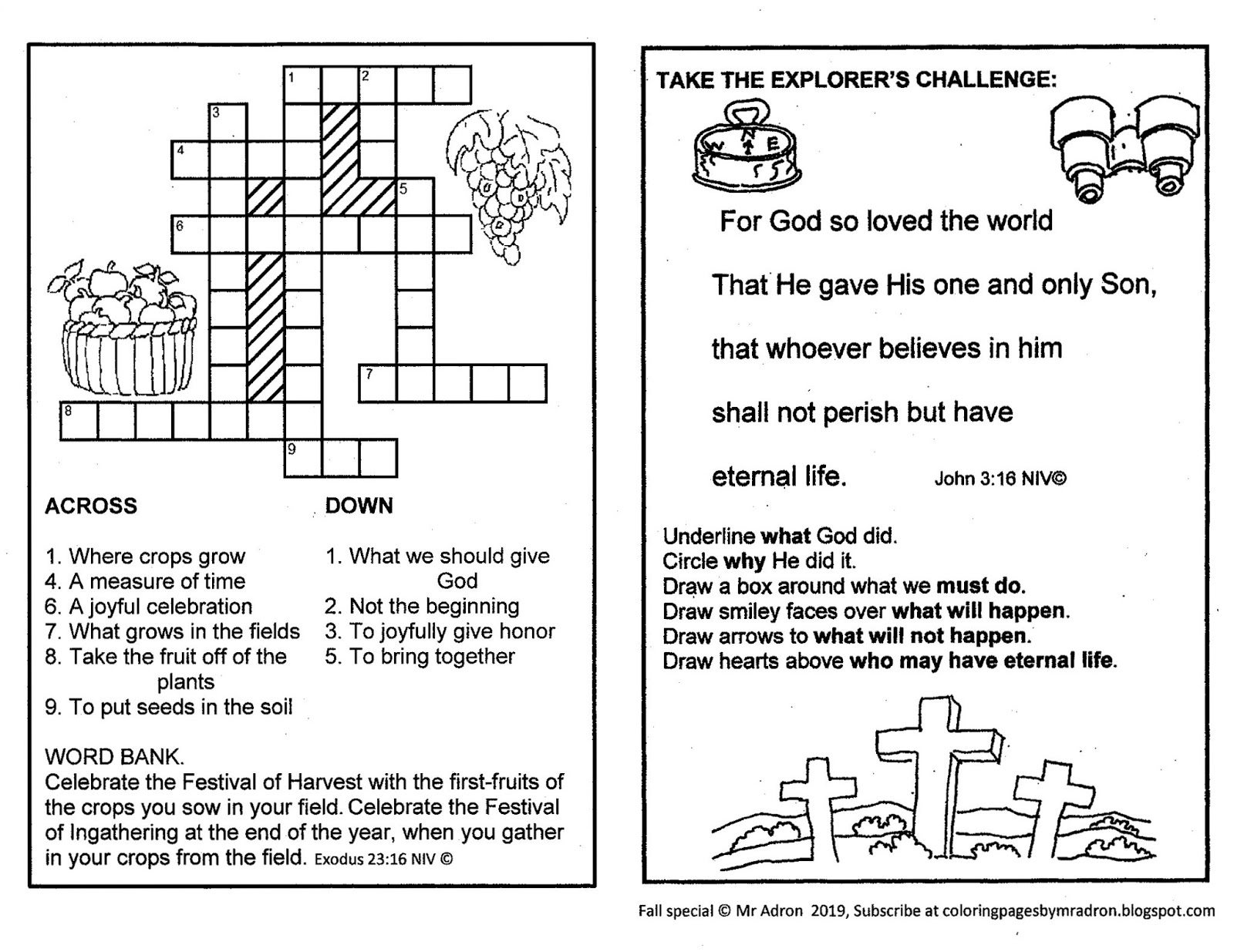 Coloring Pages For Kids By Mr Adron Enter His Gates With