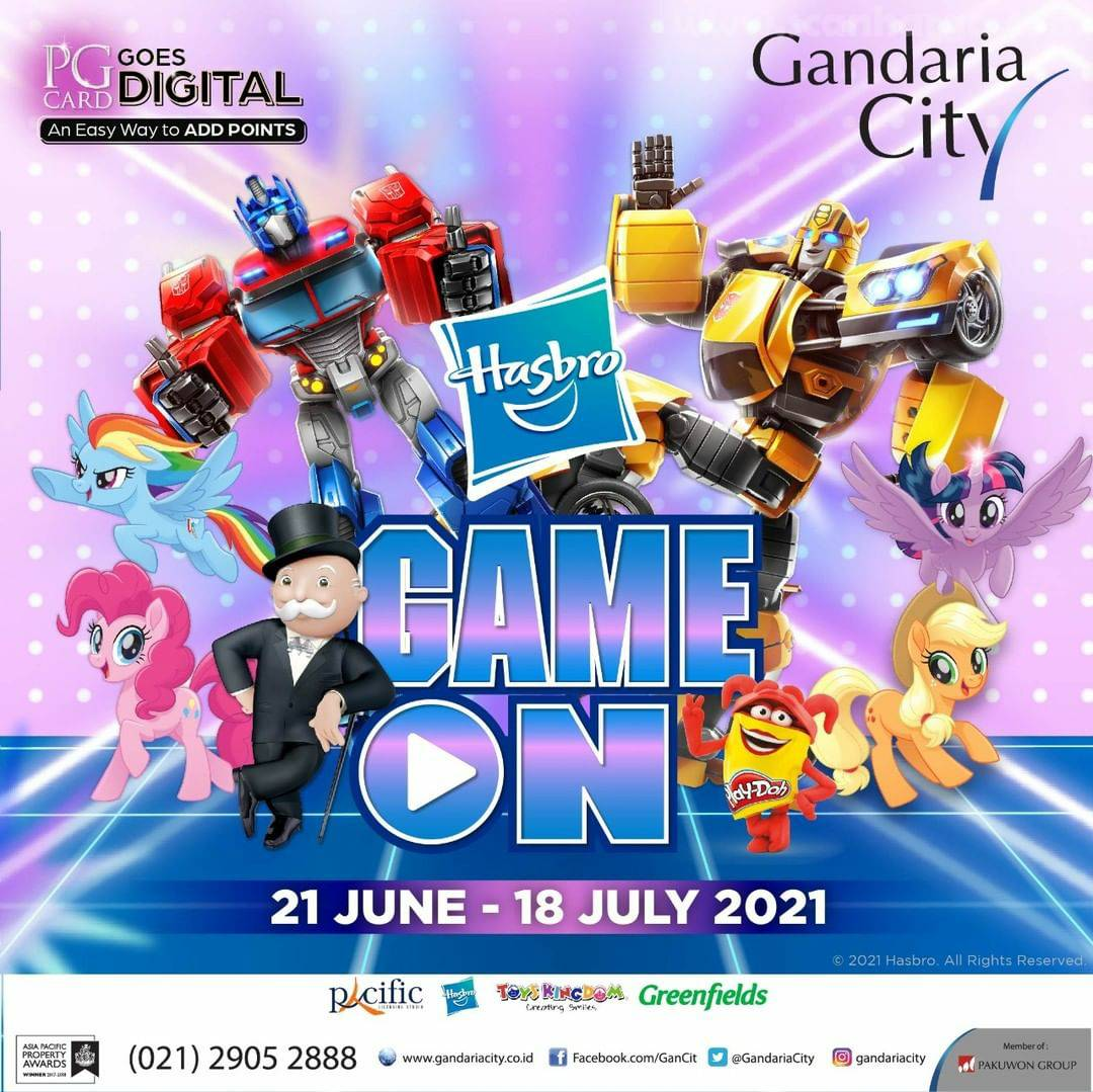 HASBRO GAME ON di GANDARIA CITY (21 Juni - 18 Juli 2021)