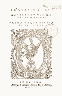 Alessio Piemontese, Girolamo Ruscelli, alchimista,