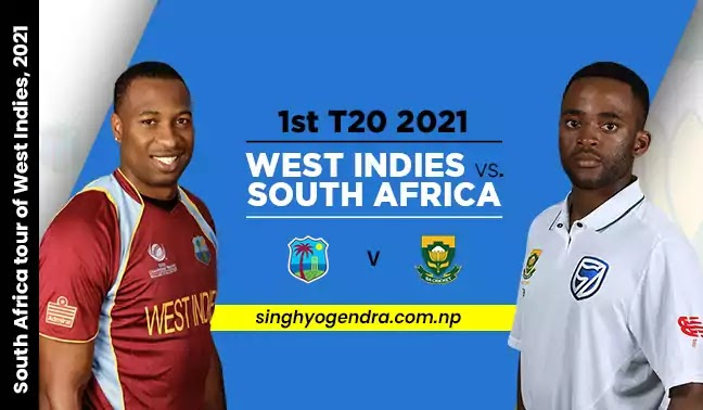 Cricket Highlights - South Africa vs West Indies 1st T20I 2021 Highlights