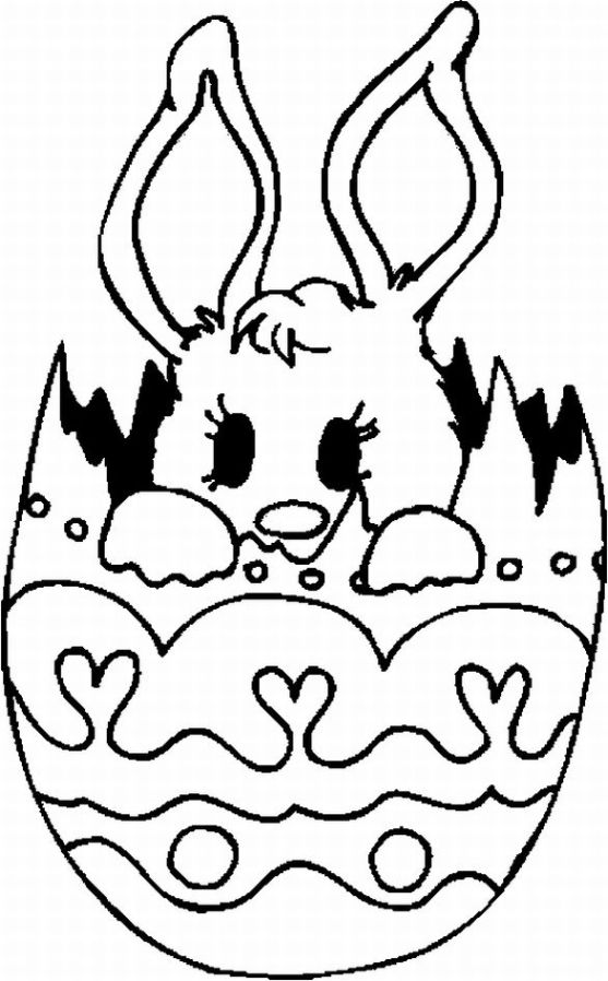 cute spring coloring pages | 13 Cute Easter Coloring Pages