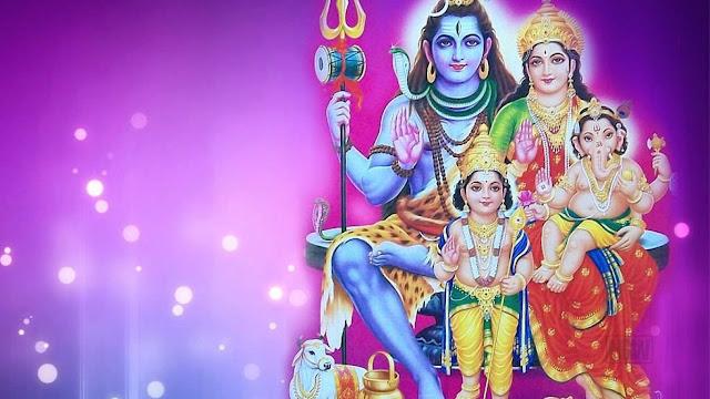 Lord Shiva Family  Wallpaper