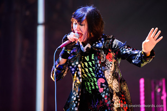 Karen O of Yeah Yeah Yeahs on the Garrison Stage at Field Trip 2018 on June 3, 2018 Photo by John Ordean at One In Ten Words oneintenwords.com toronto indie alternative live music blog concert photography pictures photos