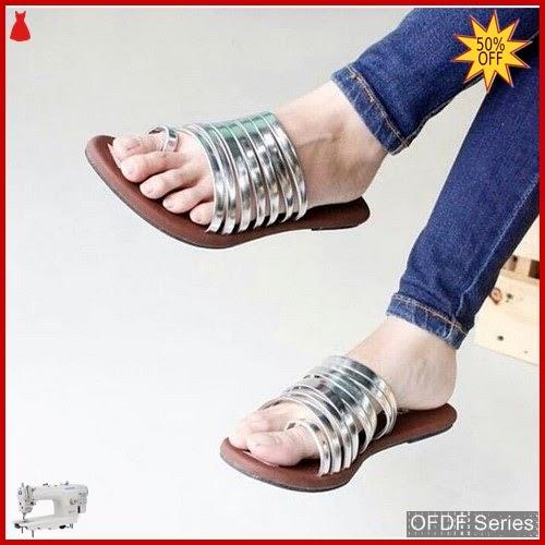 OFDF297 Sandals Cantik Wanita Moriza Ulir silver BMGShop