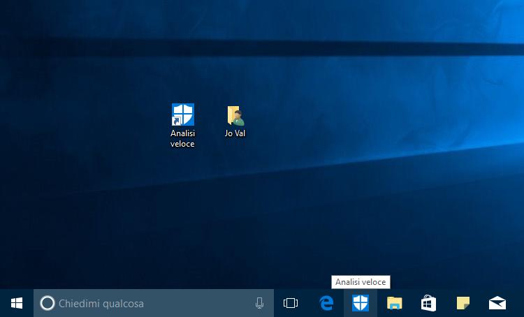 Collegamento per avviare una Scansione veloce con Defender in Windows 10-HTNovo