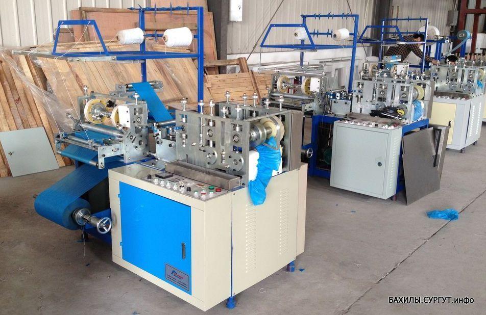 Производственный цех бахил в Сургуте, Станок фотография