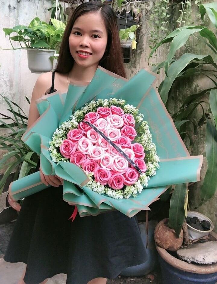 Bó hoa hồng 27 bông