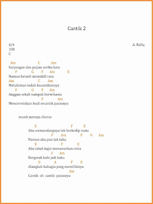 chord cantik 2 a. rafiq