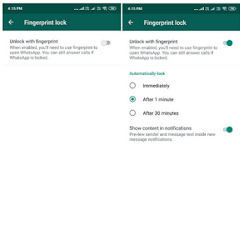 WhatsApp Fingerprint Lock Now Available For Android and iOS Users