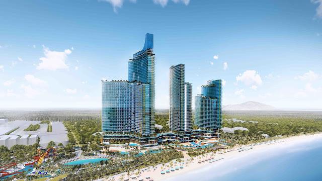 phối cảnh tổng thể dự án căn hộ Sunbay Park Hotel Ninh Thuận