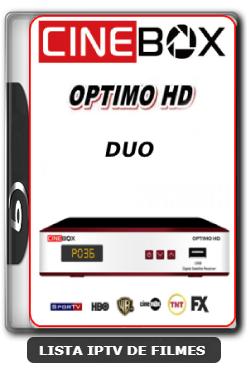 Cinebox Optimo HD Duo Nova Atualização Modificada Correção SKS 61w - 22-06-2020